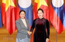 Entrevue entre les présidentes de l'Assemblée nationale du Vietnam et du Laos