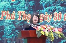 Lancement de la Fête de plantation d'arbres aux temples des rois Hung à Phu Tho