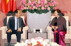 La présidente de l'AN Nguyên Thi Kim Ngân reçoit l'ambassadeur sud-coréen