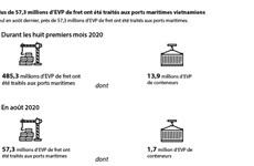 Plus de 57,3 millions d'EVP de fret ont été traités aux ports maritimes vietnamiens