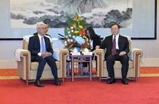 Renforcement de la coopération entre les localités vietnamiennes et le Jiangsu (Chine)
