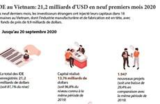 IDE au Vietnam: 21,2 milliards de dollars en neuf premiers mois 2020