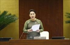 La présidente de l'Assemblée nationale apprécie les résultats des interpellations