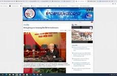 La séance d'ouverture du 13e Congrès du Parti attire l'attention de médias du Laos