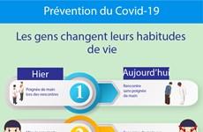 Covid-19 : Les gens changent leurs habitudes de vie