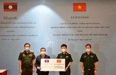 COVID-19 : aide continue du ministère vietnamien de la Défense à son homologue lao