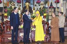 Têt : visite des anciens dirigeants du Parti et de l'Etat