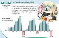 [Infographie] Novembre: l'IPC en baisse de 0,29%