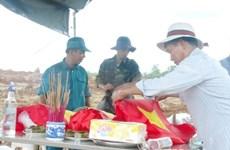 Rapatriement des restes de 30 volontaires vietnamiens morts au Laos