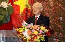 Le Secrétaire général et président Nguyen Phu Trong formule ses meilleurs voeux du Têt