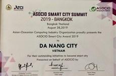Da Nang reçoit le prix ASOCIO Smart City 2019