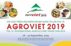 Bientôt la Foire de l'agriculture AgroViet 2019 et la Foire aux produits aquatiques de Hanoï