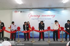 Ha Nam: Inauguration de l'usine Fuji Electric Industry Vietnam