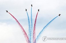 Cérémonie de bienvenue à Busan pour le Sommet spécial République de Corée – ASEAN