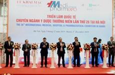 Ouverture du Vietnam Medipharm Expo 2019 à Hanoï