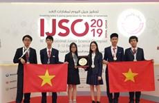 Trois médailles d'or pour le Vietnam aux Olympiades internationales junior des sciences