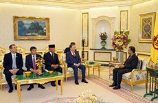Le ministre vietnamien de la Sécurité publique rend une visite de courtoisie au sultan de Brunei