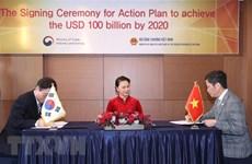 Le Vietnam et la R. de Corée ciblent 100 milliards d'USD d'échanges commerciaux en 2020