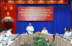 Le PM travaille avec les responsables de la province de Bac Liêu