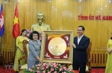Une délégation de l'AN du Cambodge visite la province d'Ha Nam