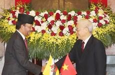 Vietnam-Brunei : entretien entre Nguyen Phu Trong et Haji Hassanal Bolkiah