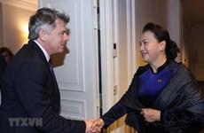 La présidente de l'AN Nguyên Thi Kim Ngân rencontre le secrétaire national du PCF
