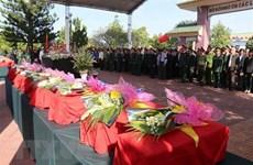 Kon Tum: inhumation des restes de soldats tombés au Laos et Cambodge