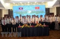 Quang Tri et des provinces laotiennes signent un accord de coopération pour 2020-2022