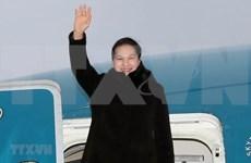 La présidente de l'AN Nguyen Thi Kim Ngan entame sa visite officielle en Biélorussie