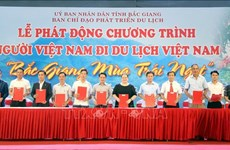 """Ouverture du programme """"Les Vietnamiens voyagent au Vietnam"""" à Bac Giang"""