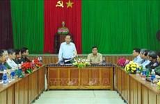 Le vice-Premier minister Truong Hoa Binh à Quang Nam