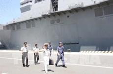 Deux navires de la Force maritime d'autodéfense japonaise en visite au Vietnam