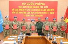 Sept officiers supplémentaires participent aux opérations de maintien de la paix de l'ONU