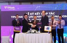 UnionPay International coopère avec TPBank pour élargir le paiement par carte et code QR