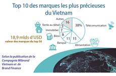 Top 10 des marques les plus précieuses du Vietnam