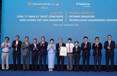 Aviation: lancement de la Sarl de Techniques et de Technologies aéronautiques Vietnam-Singapour