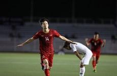 """SEA Games 30: l'AFF a félicité Hoang Duc pour son """"superbe but"""""""