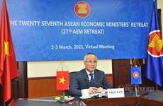 La 27e conférence restreinte des ministres de l'Economie de l'ASEAN
