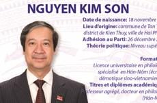Ministre de l'Education et de la Formation: Nguyen Kim Son