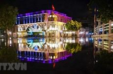 La beauté paisible de la nuit d'automne de Hanoï