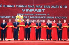 Automobile : inauguration de l'usine VinFast à Hai Phong