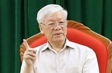 Le SG et président Nguyen Phu Trong préside la réunion périodique du Bureau Politique