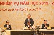 Le PM assiste à une vidéoconférence nationale sur l'éducation