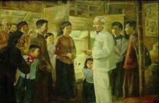Exposition d'œuvres de plusieurs peintres célèbres sur le Président Ho Chi Minh