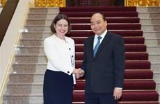 Le Premier ministre reçoit l'ambassadrice d'Australie