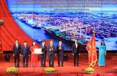 Le PM participe à la cérémonie marquant la Journée des ouvriers du port de Hai Phong