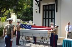 Rapatriement des restes d'un militaire américain porté disparu pendant la guerre