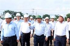 Le PM contrôle le rythme des travaux du projet de construction de l'aéroport de Long Thanh