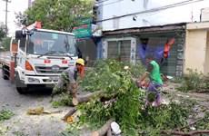 Le typhon Molave fait des ravages à Quang Ngai