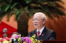 Félicitations au secrétaire général du Parti et président vietnamien Nguyen Phu Trong